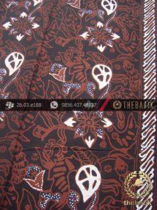 Kain Batik Cap Tulis Motif Ceplok Kembang Sogan