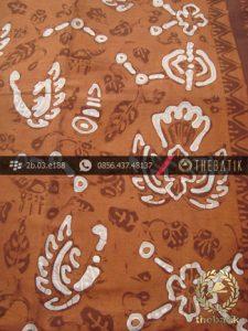 Kain Batik Tulis Warna Alam Motif Sido Mukti Jingga