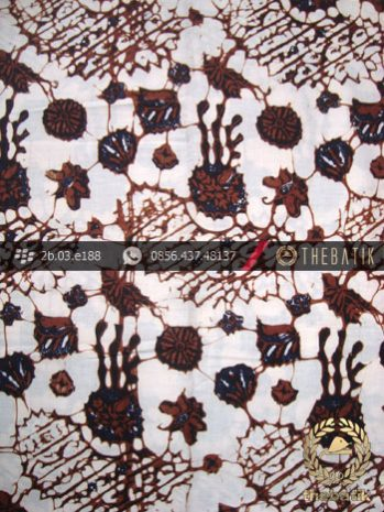 Kain Batik Klasik Jogja Motif Ceplok Sogan Putih