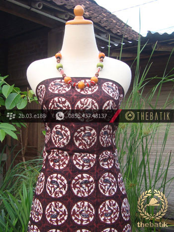 Kain Batik Klasik Jogja Motif Ceplok Bola Sogan
