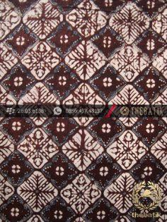 Kain Batik Klasik Jogja Motif Nithik Kotak Sogan