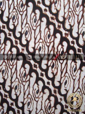 Kain Batik Klasik Jogja Motif Parang Sobrah Putih