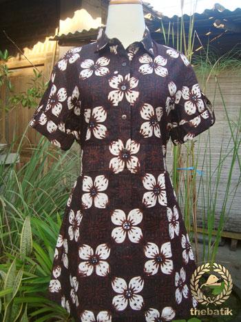 Jahit Baju Batik Wanita - Blouse Batik Kawung