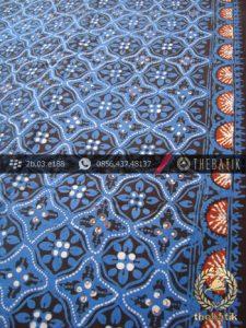 Batik Jogja Motif Ceplok Kembang Biru