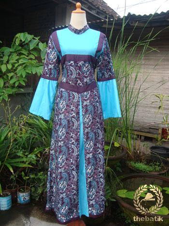 Jahit Baju Batik Wanita - Model Gamis