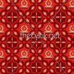 Bikin Batik Desain Sendiri - Design Seragam Batik Custom 3 Warna : Marun, Merah, Kuning Keemasan