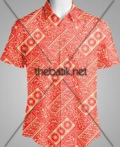 Tempat Pembuatan Batik dengan Desain Sendiri - Design Seragam Batik Custom 2 Warna : Merah, Kuning