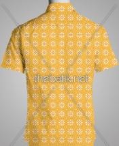Pesan Kain Motif Sendiri - Design Seragam Batik Custom 2 Warna : Kuning, Oranye