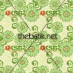 Pesan Batik Desain Sendiri - Design Seragam Batik Custom 3 Warna : Hijau Muda, Hijau Tua, Orange