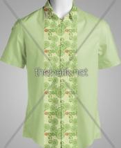 Batik Seragam Desain Sendiri- Design Seragam Batik Custom 3 Warna : Hijau Muda, Hijau Tua, Orange