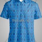 Kain Batik Motif Sendiri- Design Seragam Batik Custom 3 Warna : Biru Muda, Biru Tua, Hitam