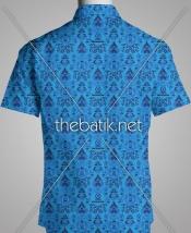 Kain Batik Motif Sendiri - Design Seragam Batik Custom 3 Warna : Biru Muda, Biru Tua, Hitam