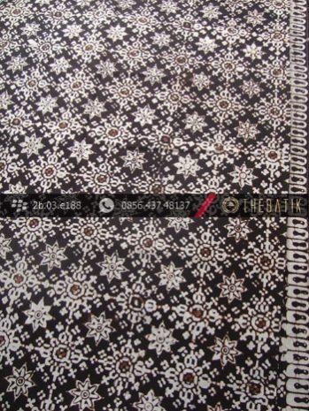 Kain Batik Klasik Jogja Motif Bintangan Sogan