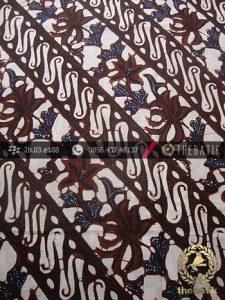 Kain Batik Klasik Jogja Motif Parang Rusak Kembang