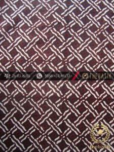 Kain Batik Klasik Jogja Motif Anyaman Sogan