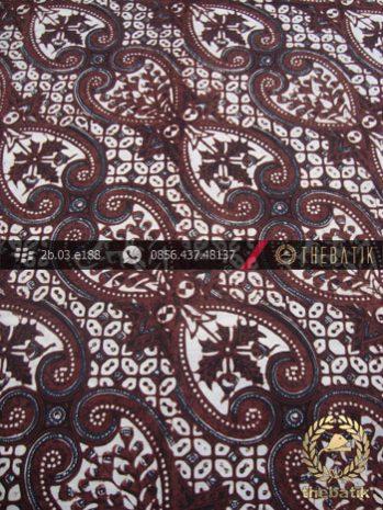 Kain Batik Klasik Jogja Motif Lereng Wirasat Putih