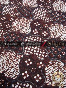 Kain Batik Klasik Jogja Motif Sekar Jagad Hitam