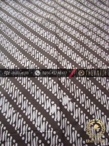 Kain Batik Cap Motif Parang Klithik Abu-Abu
