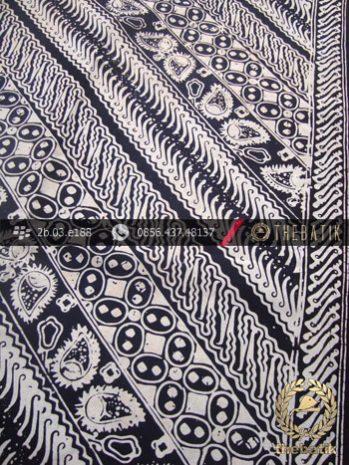 Kain Batik Cap Motif Parang Seling Kawung Hitam