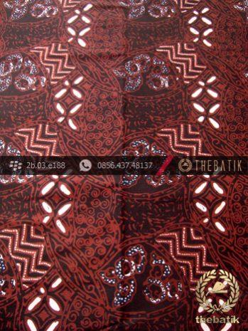 Kain Batik Cap Tulis Motif Ceplok Kombinasi Sogan