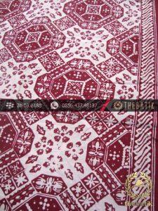 Kain Batik Cap Motif Ceplok Ubin Buketan Marun