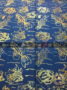 Kain Batik Modern Motif Ikan Biru
