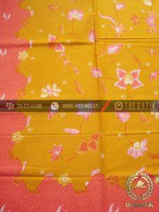 Kain Batik Tulis Pesisiran Motif Floral Jambon Kuning