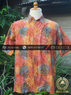 Kemeja Batik Modern Motif Gradasi Merah