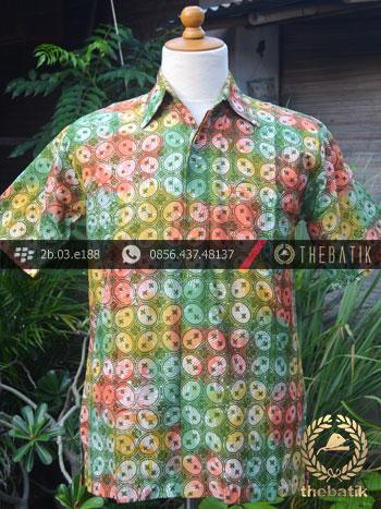 Kemeja Batik Modern Motif Kawung Gradasi