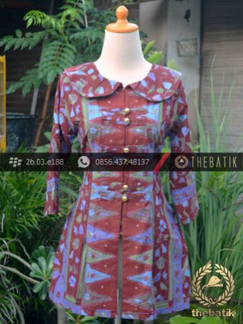 Model Baju Batik Kerja Wanita – Tumpal Tulis