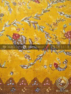 Kain Batik Cap Tulis Motif Ikan Remukan Kuning