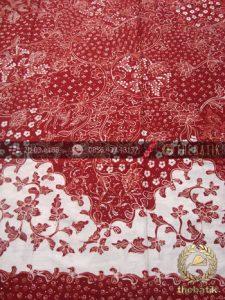 Kain Batik Tulis Lasem Motif Kombinasi Merah