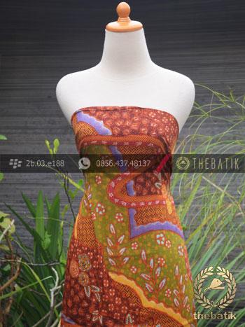 Bahan Baju Batik Sutera Motif Abstrak Modern-2