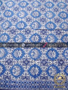 Kain Bahan Baju Batik Motif Ceplokan Biru