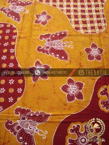 Batik Tulis Jogja Motif Pulau Kupu-Kupu Marun