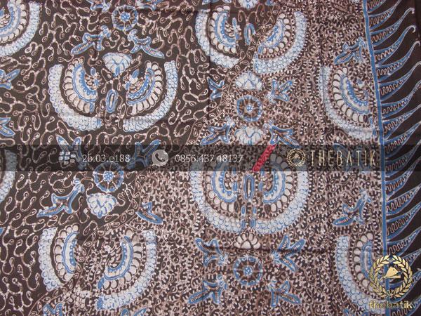 Batik Tulis Warna Alam Motif Babon Angrem Tumpal
