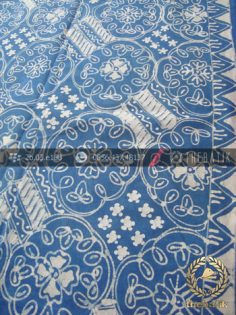 Batik Tulis Warna Alam Motif Ceplok Biru Indigo