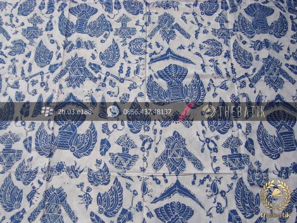 Batik Tulis Warna Alam Motif Semen Putih Indigo