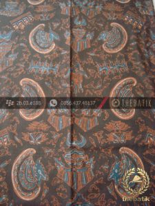 Batik Tulis Warna Alam Motif Semen Romo Latar Hitam