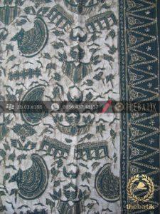 Batik Tulis Warna Alam Motif Semen Romo Tumpal Hijau