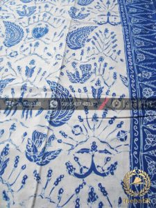 Batik Tulis Warna Alam Motif Sido Asih Putih Tumpal
