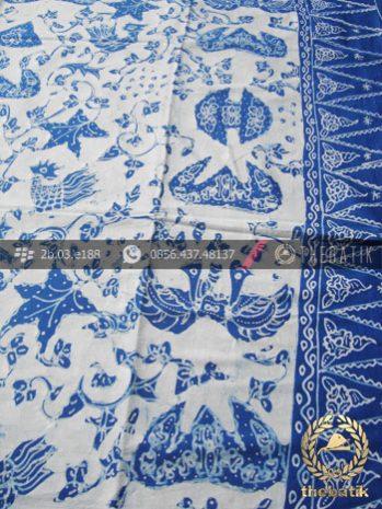 Batik Tulis Warna Alam Motif Wahyu Tumurun Putih Tumpal