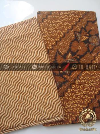 Kain Batik Solo Bahan Kombinasi Motif Galaran
