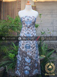 Batik Tulis Warna Alam Motif Gajah Tumpal Kombinasi