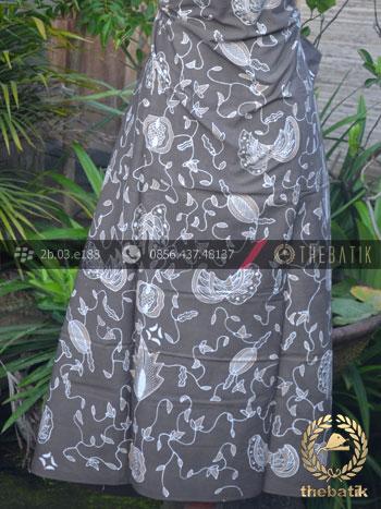 Batik Tulis Warna Alam Motif Kontemporer Coklat