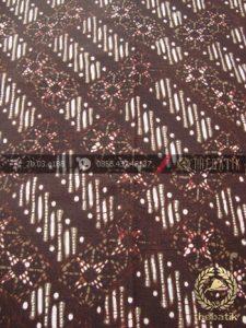 Kain Batik Cap Tulis Motif Nithik Hijau Lumut