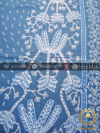 Batik Tulis Warna Alam Motif Buketan Indigo