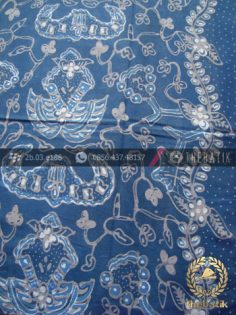 Kain Batik Tulis Warna Alam Wahyu Tumurun Biru