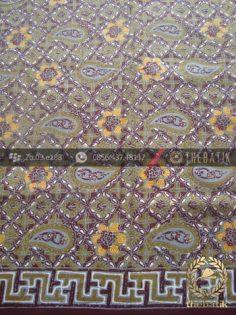 Bahan Batik Seragam Pekalongan Motif Paisley Hijau