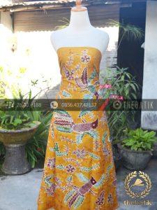 Kain Batik Tulis Coletan Burung Kuning